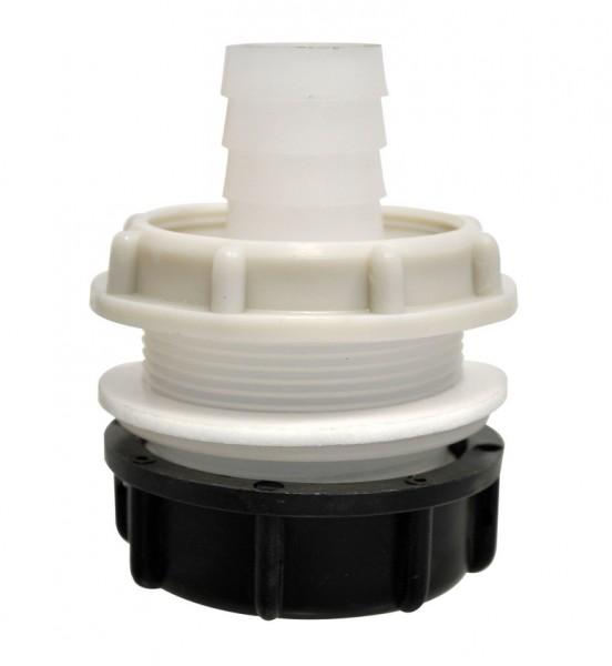 Tankanschluss mit Kontermutter und Schraubkappe 40 mm