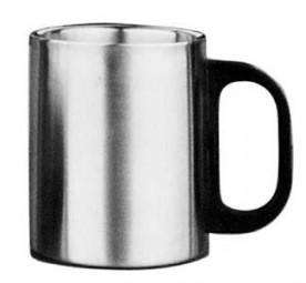 Kaffeebecher Edelstahl 0,3l Kunststoffgriff