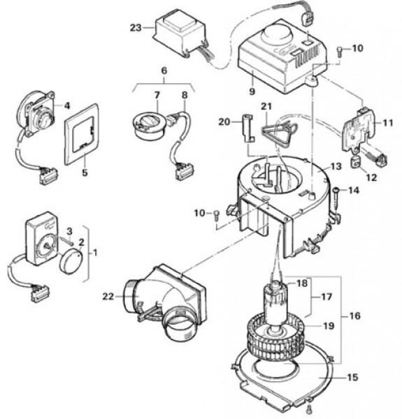 Ventilatorrad für Trumavent Gebläse