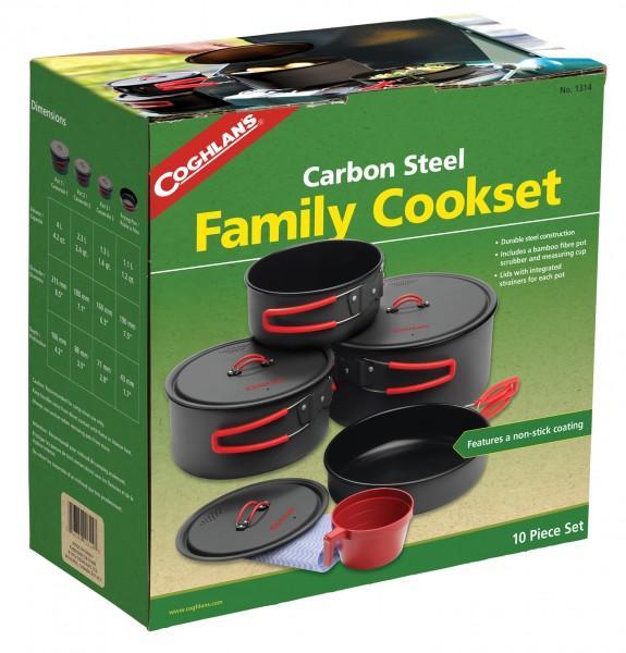 Coghlans Non-Stick Carbonstahl Kochset