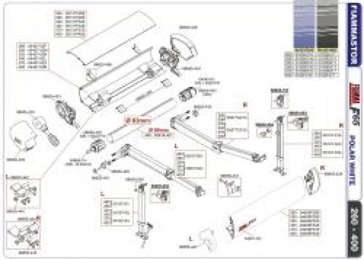 Ersatzteile F 65 - Frontblendenverschluss rechts titanium