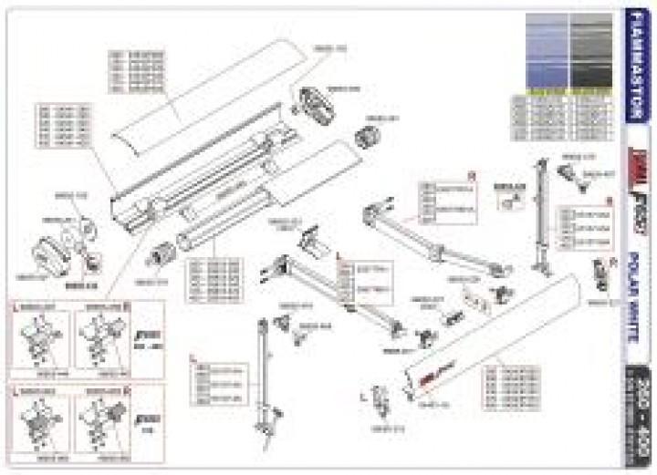 Ersatzteile F 65 S - Endkappe F65 S links polar white