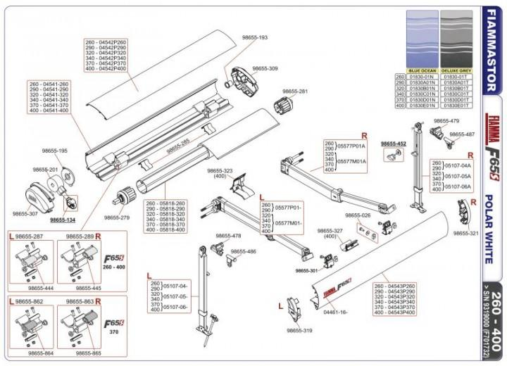 Ersatzteile F 65 S - Stützfuß 320-340, F65 S links