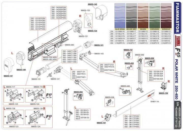 Frontblendenverschluss F45TiL links titanium