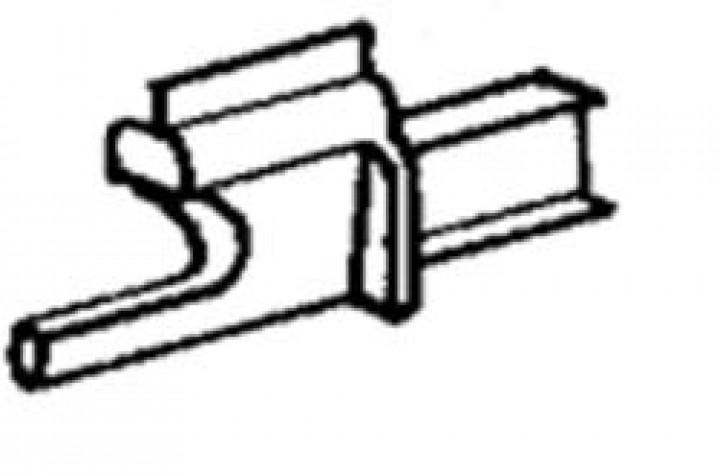 Ersatzteile für Rastrollo 2000 - Verdunklungs - Rollostoff genäht mit Keder grau