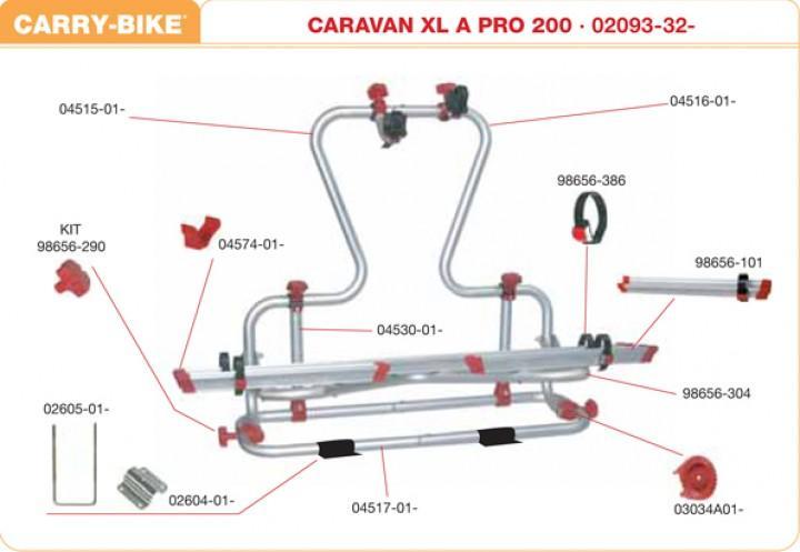 Schraubenmutter-Kit rot für Carry-Bike XLA 200 Pro und XLA 300 Pro