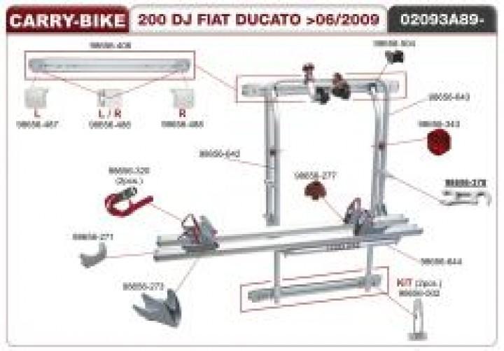 Schienenabdeckung Ersatzteil für Carry-Bike 200 DJ