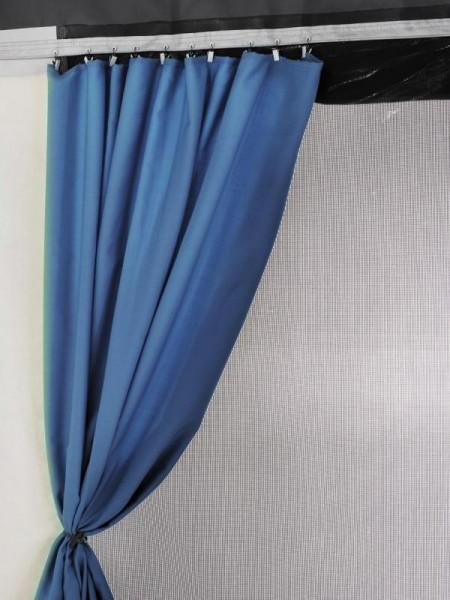 Gardinen für Safari-Residence G2, Markisenlänge 3,50 und 4,00m, Blau