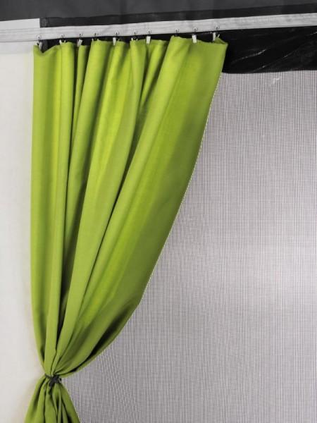 Gardinen für Safari-Residence G2, Markisenlänge 5,50 und 6,00m, Neon-Grün