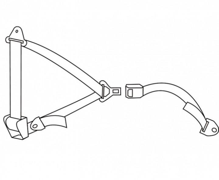 3-Punkt Automatik Sicherheitsgurt 400 cm