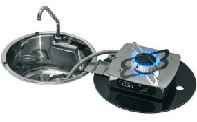 Can Klappbare Kocher-Spülen-Kombination