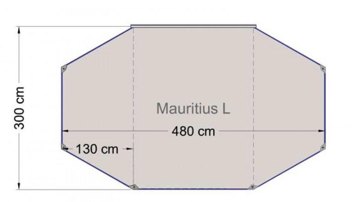 Sonnenvordach Mauritius L