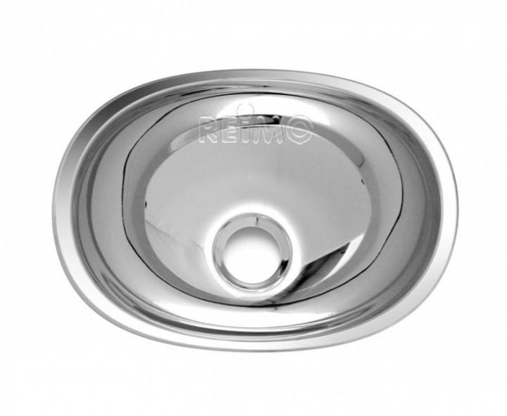 Waschbecken oval Edelstahl 432 mm