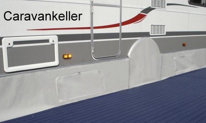 Bodenschürze Caravankeller Fahrzeugschürze Länge 6 m