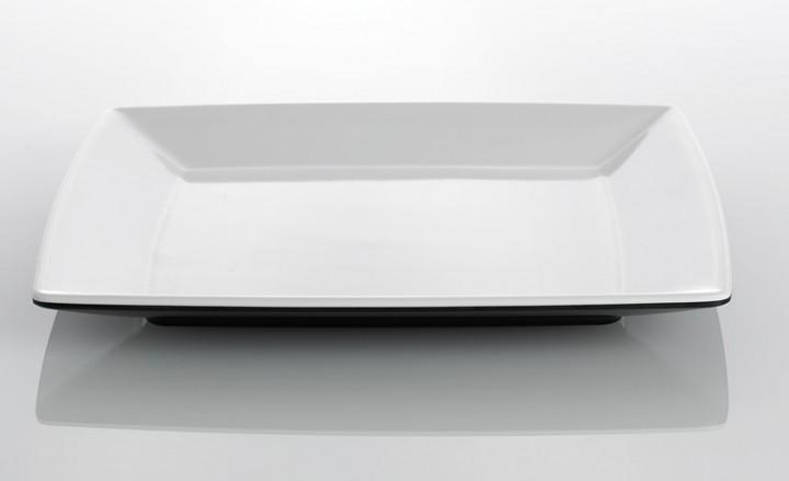 Dessertteller Quadrato Black and White