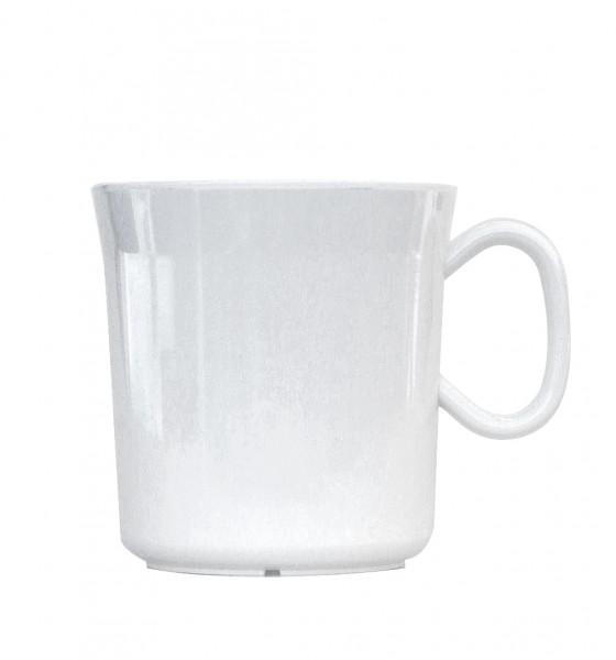 Waca Melamin, weiss Henkelbecher 400 ml