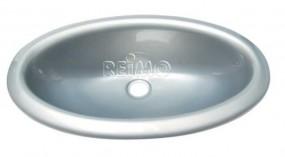 Einlege Waschbecken Oval silber