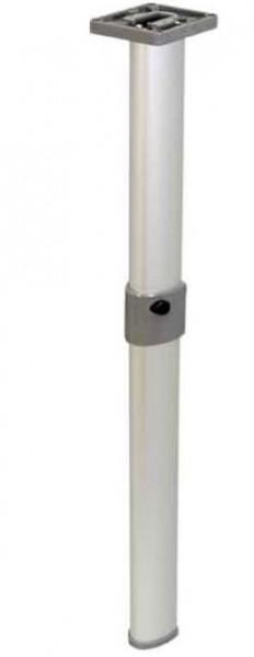 Gelenktischfuß mattsilber Gelenk mittig 675 mm