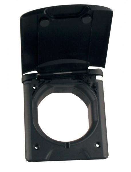 FAWO Universal Außendose 13 mit Magnetverschluss schwarz