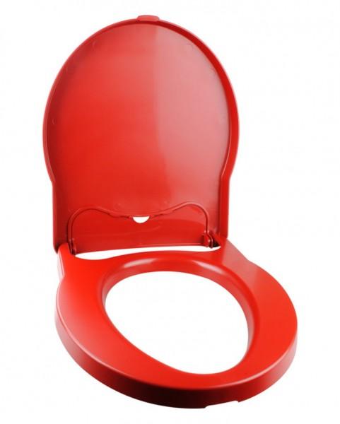 Thetford Toilettensitz mit Deckel rot für Porta-Potti Excellence