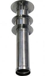 Edelstahl-Abzugsrohr Wand gerade für Durchlauferhitzer CE-L12i