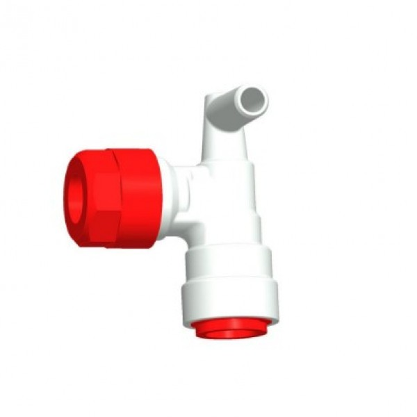 Winkelanschluss (John Guest System) rot 12 mm