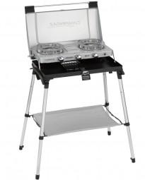 Campingaz 2-Flammkocher 600 ST inklusive Infrarot Toaster und Gestell