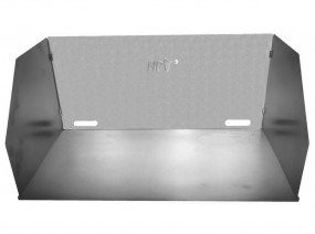 Aluminium Windschutz 55 x 35 x 30 cm
