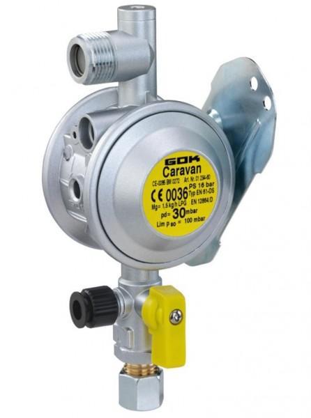 Druckregelgerät für Flüssiggas EN 61-DS 1,5kg/h 30mbar