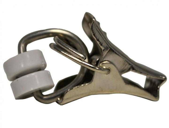 Gardinenröllchen mit Klammer 10-er Pack