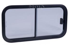 Sicherheitsglas Schiebefenster Rahmen schwarz 800x400 mm