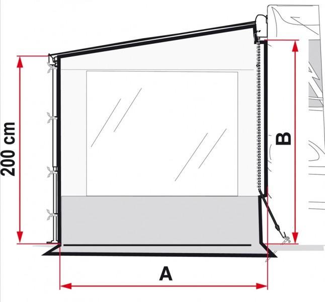 Fiamma Side W Pro Seitenwand F45 mit Fenster