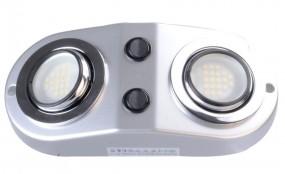 LED Zwillingsaufbauleuchte 12 Volt