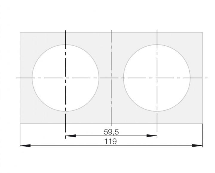 Berker Integro Flow Rahmen 2-fach weiß glänzend