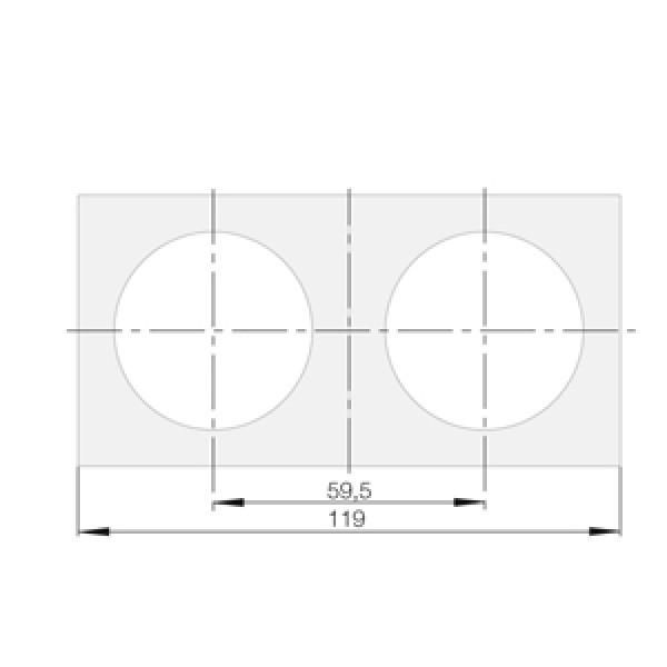 Berker Integro Flow Rahmen 2-fach chrom glänzend