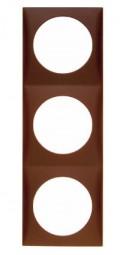 Berker Integro Flow Rahmen 3-fach braun matt