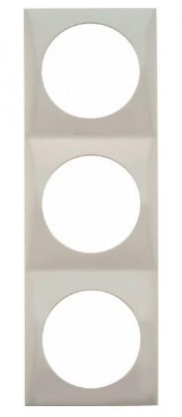 Berker Integro Flow Rahmen 3-fach weiß glänzend