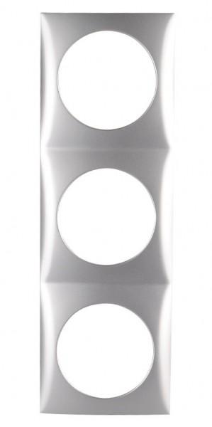 Berker Integro Flow Rahmen 3-fach chrom lackiert