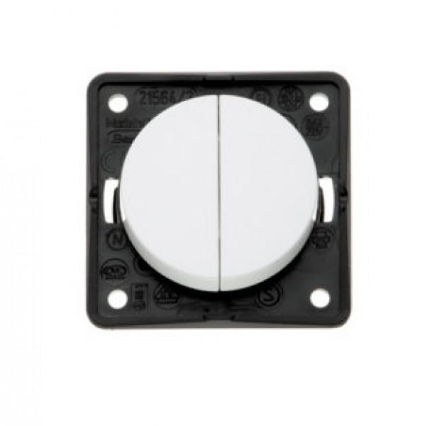 Berker Integro Flow Serienschalter weiß glänzend