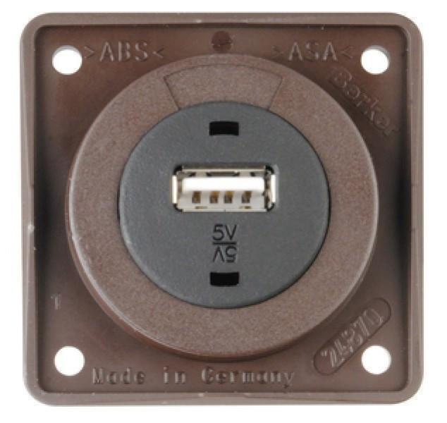 Berker Integro USB-Ladesteckdose braun matt