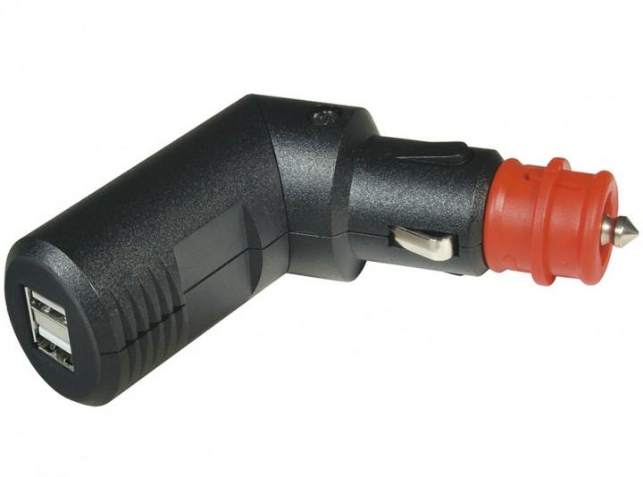 Winkelbarer Doppel USB-Ladestecker