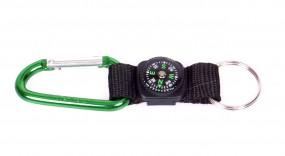 Coghlans Karabiner m. Kompass & Schlüsselring farblich sortiert