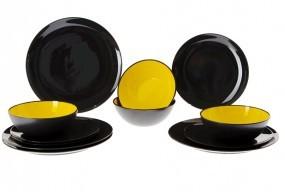Geschirr-Set gelb 12 tlg.