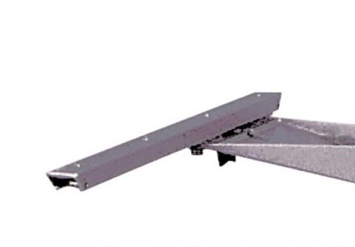 Schiebebeschlag für Tischgestell verschiebbar