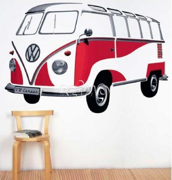 VW Collection VW Bulli Wandtattoo Samba