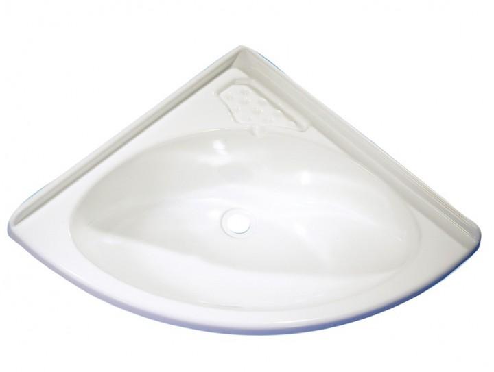 Eckwaschbecken Maxi weiß glänzend