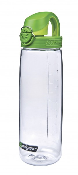 Nalgene 'Everyday OTF' 0,7 L, transp., Deckel grün