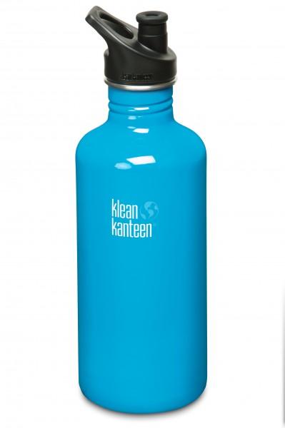 Klean Kanteen Flasche 'Classic' Sports Cap hellblau, 1,182 L