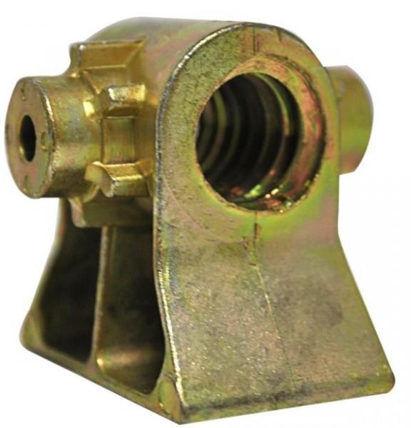 Spindelmutter für normale Steckstützen 20 mm Stahl 4-Kant