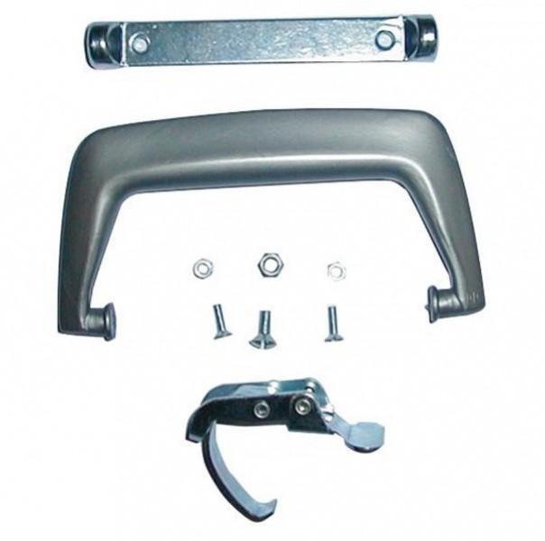 Grill - Ersatzteile - Kofferverschluss mit Tragegriff silber